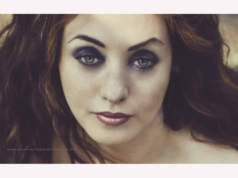 Retrato beauty de novia goth